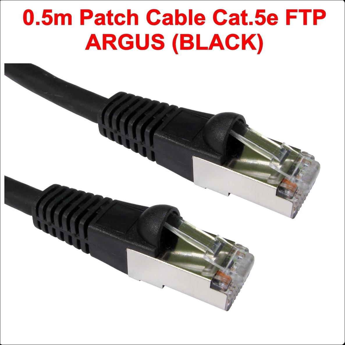 0.50m FTP Patch Cable Cat.5e ARGUS (BLACK)