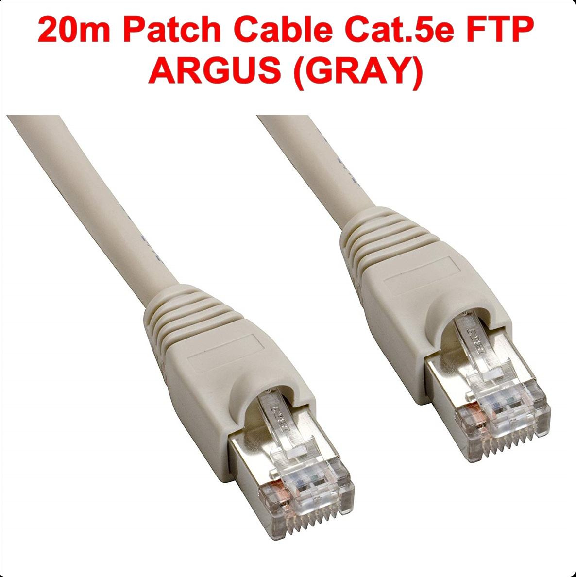 20.00m FTP Patch Cable Cat.5e ARGUS (GRAY)