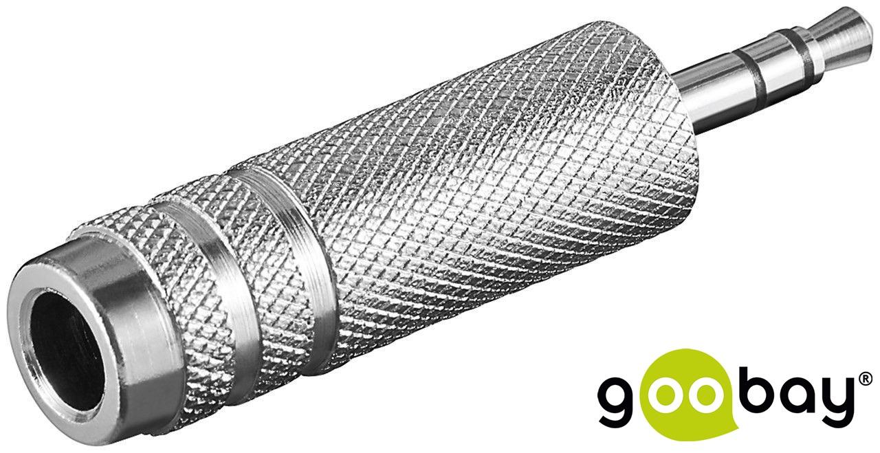 3.5 mm M 3-pin to 6.35 mm F 3-pin jack GOOBAY