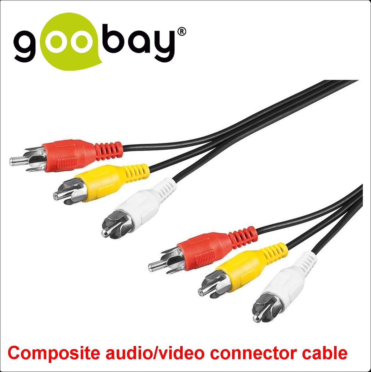 3 RCA male to  3 RCA male 1.5m GOOBAY 50380