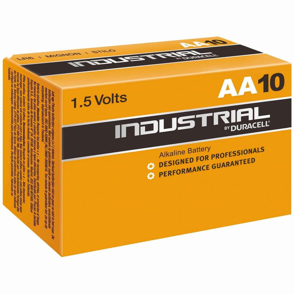 AA 1.5V 10бр. Alkaline Duracell Indust LR06 Box