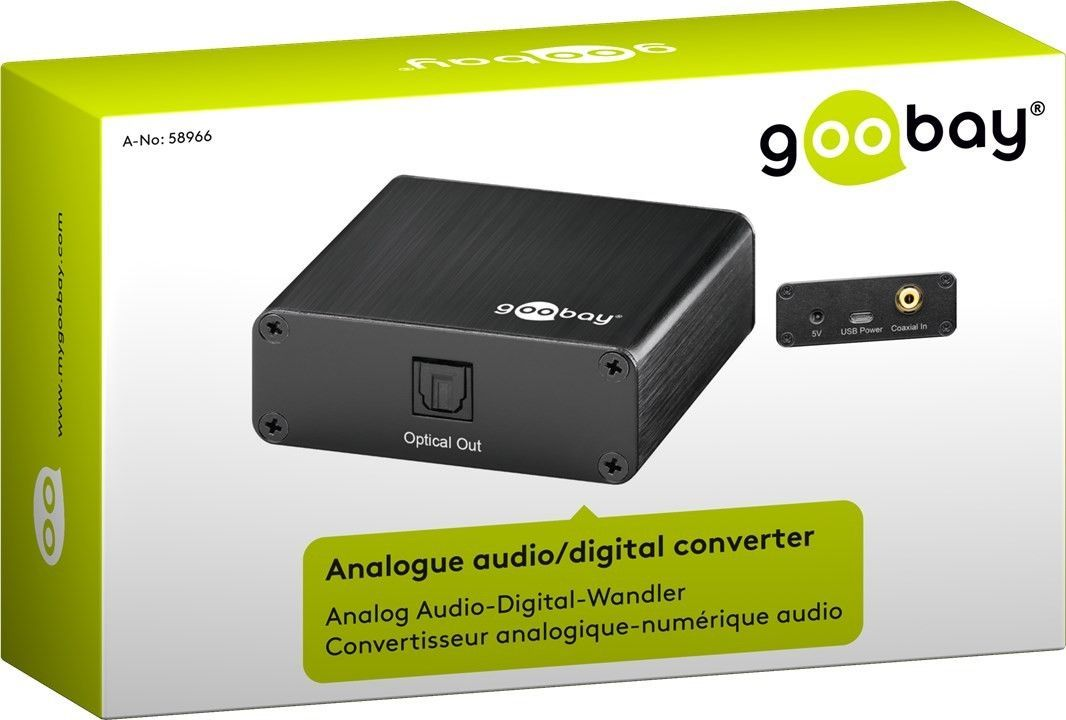 Analogue - digital audio converterr GOOBAY 58966