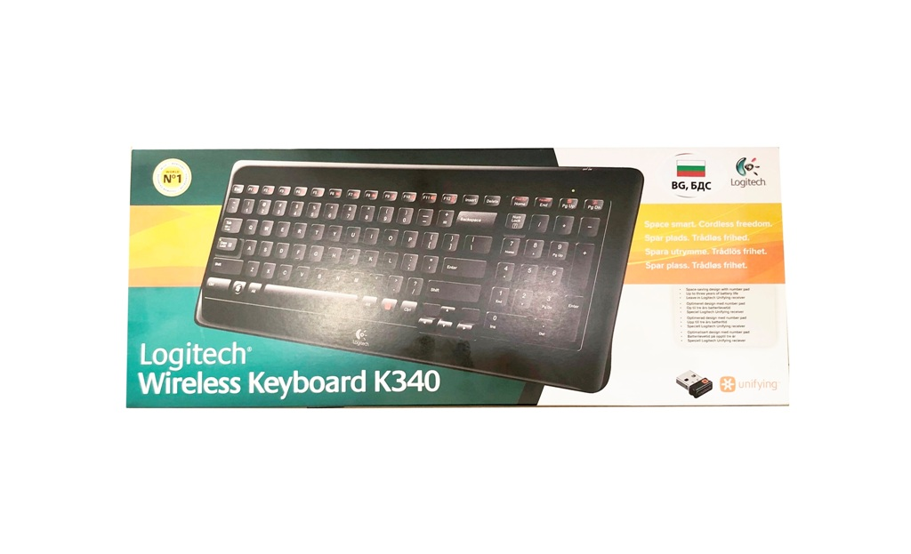 Безжична клавиатура Logitech K340 BG