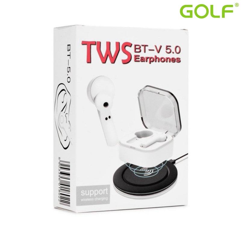 Безжични слушалки HandsFree TWS EP002 V5.0 White