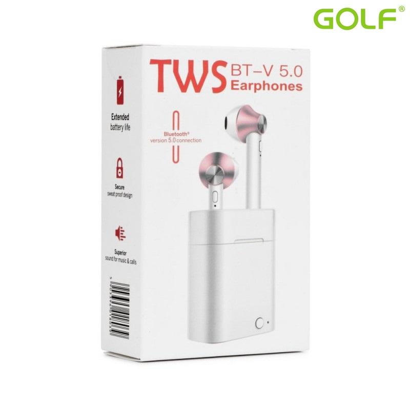 Безжични слушалки HandsFree TWS EP003 V5.0 White