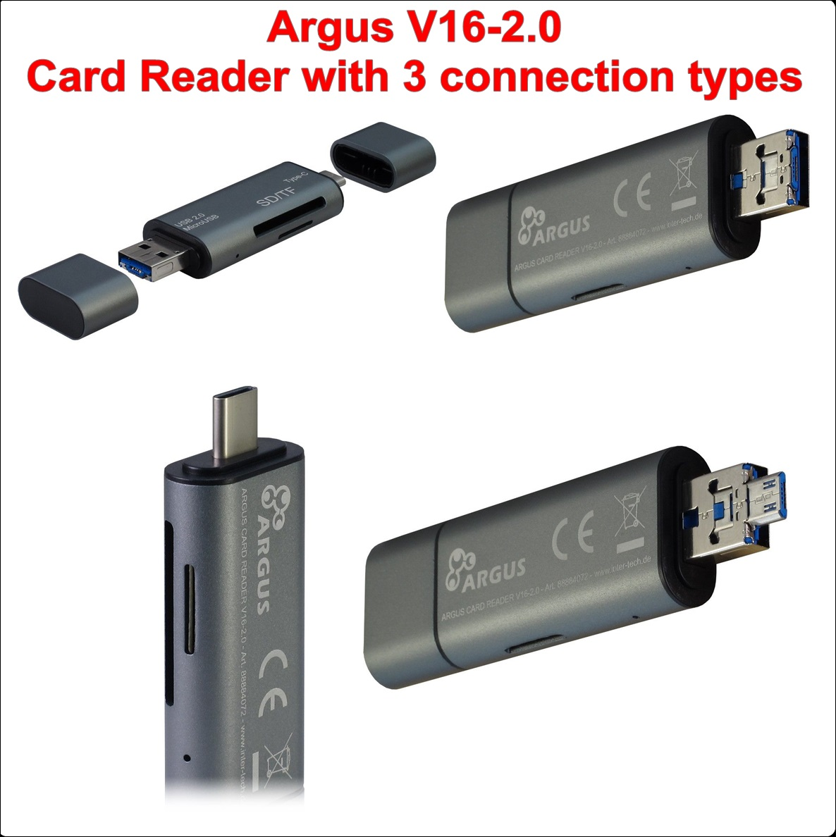 Четец за карти Argus V16-2.0 (with 3 connection)
