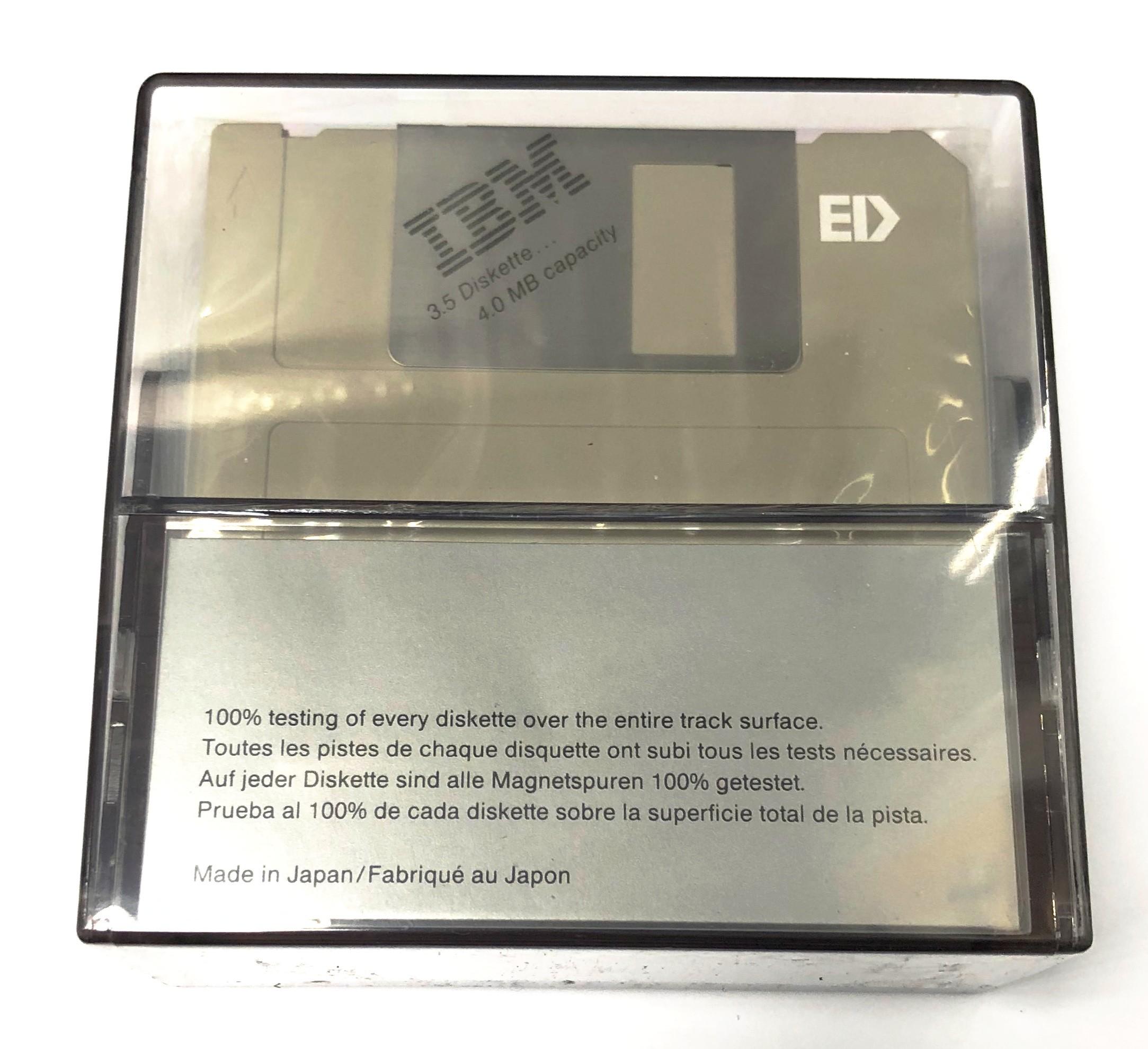 "Diskette 3.5"" 4.0Mb 10бр. Кутия IBM"