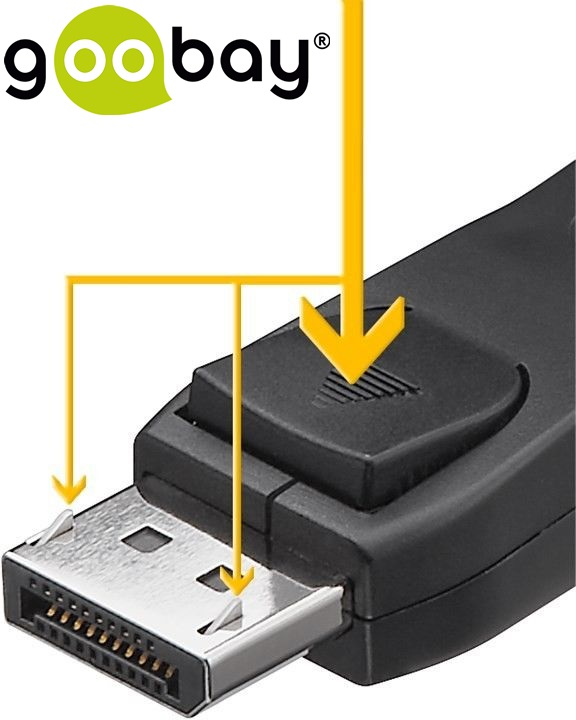 DisplayPort DP M/M v1.1  2.0m nickel GOOBAY