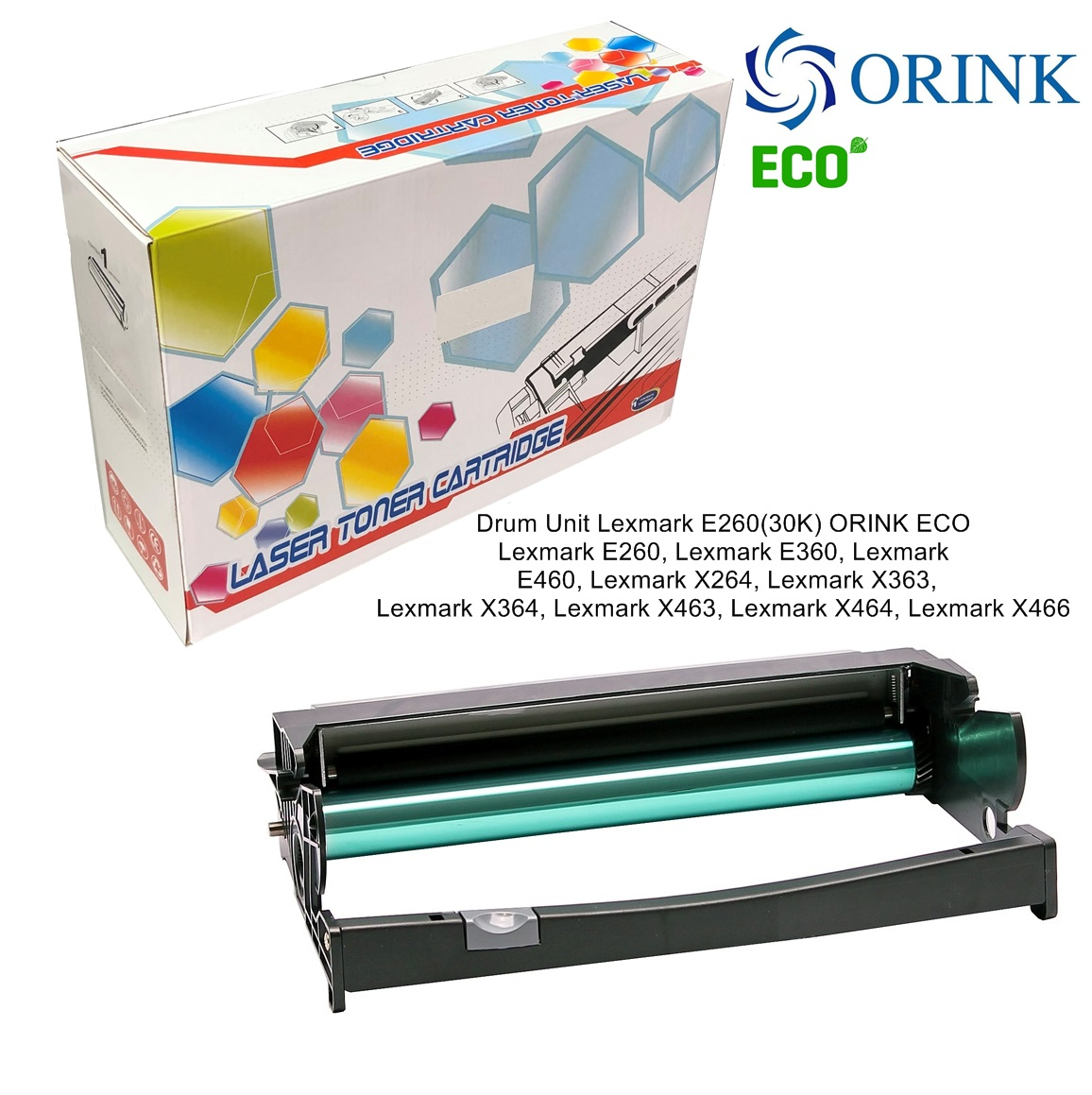 Drum Unit Lexmark E260(30K) ORINK ECO