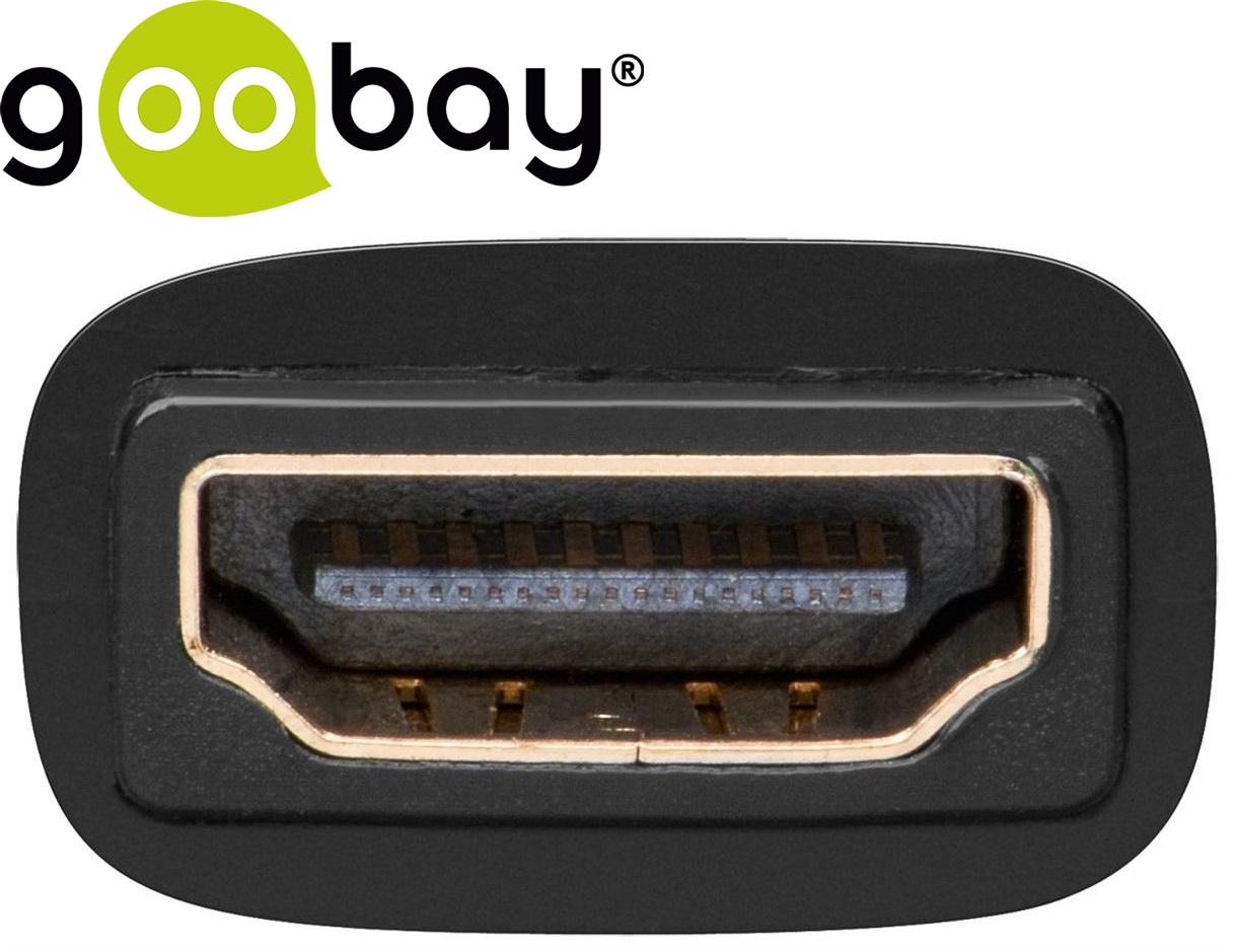 DVI-D 24+1 M to HDMI F gold GOOBAY