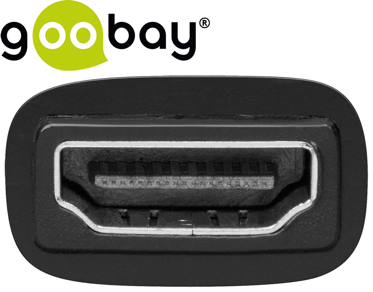 DVI-D 24+1 M to HDMI F nickel GOOBAY