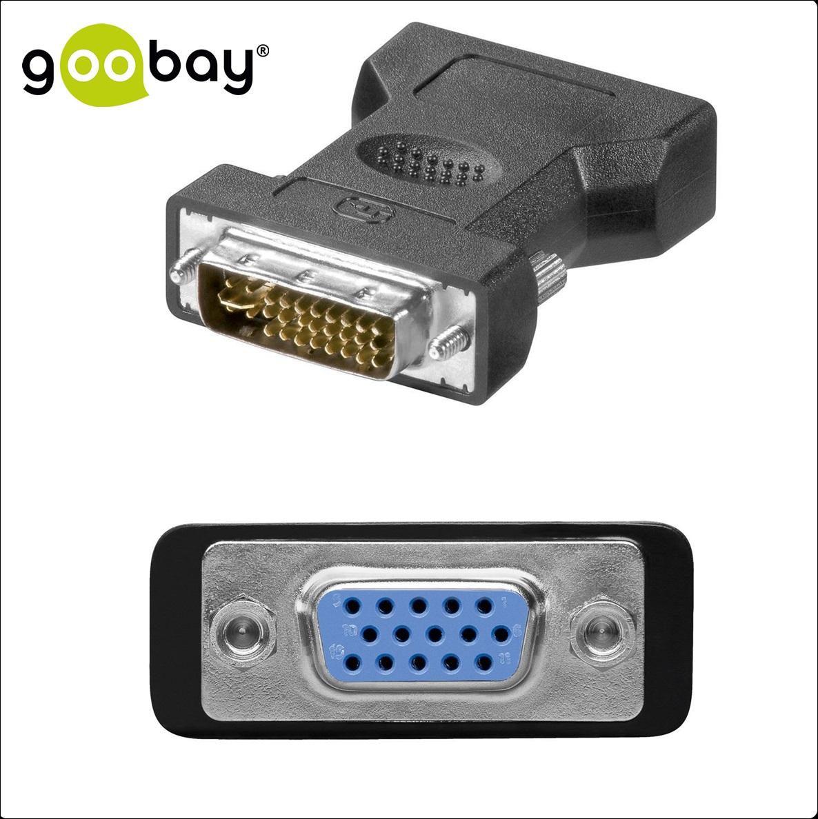 DVI-I 24+5 M to VGA 15-pin F GOOBAY