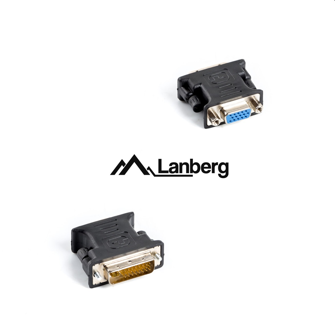 DVI-I 24+5 M to VGA 15-pin F Lanberg