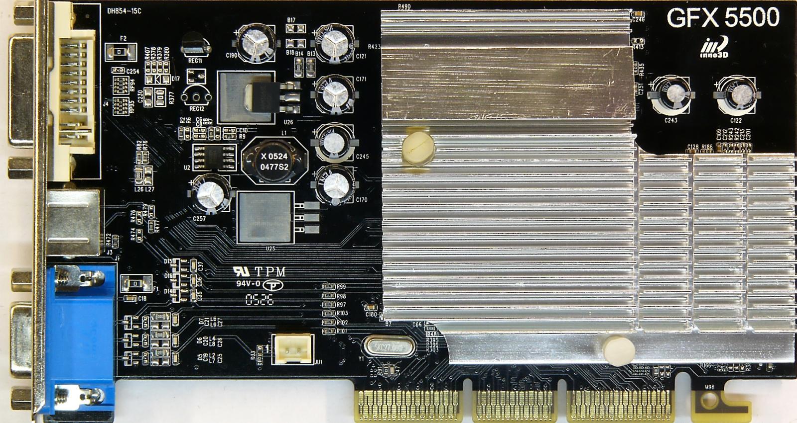 GeForce FX 5500 256MB DDR2 128 bit AGP Inno3D
