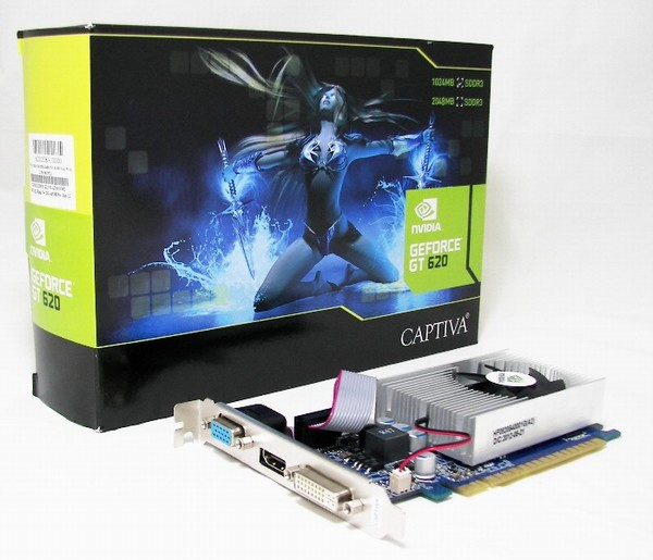 GeForce GT 620 1GB DDR3 64bit Captiva