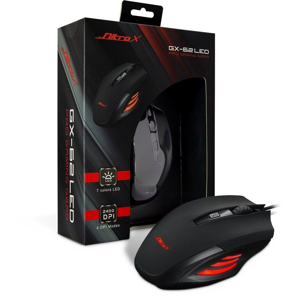 Геймърска мишка USB Nitrox GX-62 LED