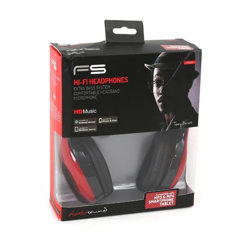 Геймърски слушалки FREESTYLE FH4920R,червени,мик