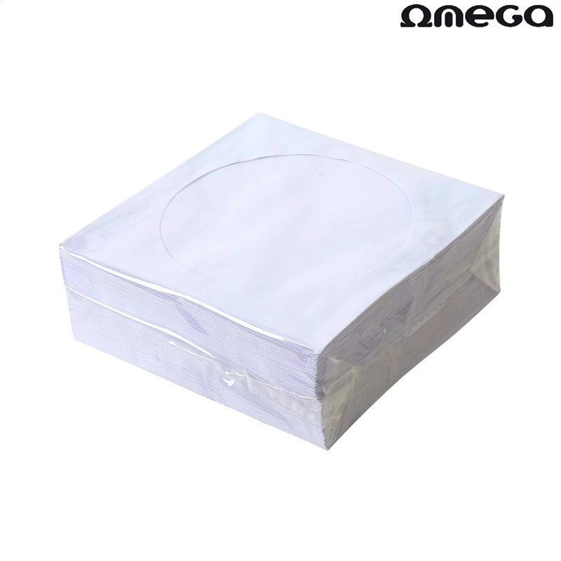 Хартиени пликове Omega за CD 100бр в опаковка