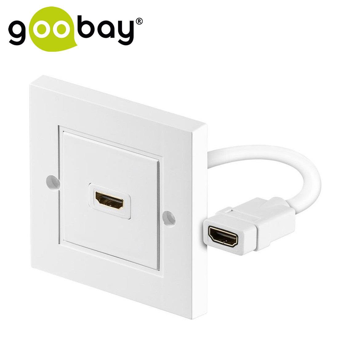 HDMI розетка за монтаж на стена GOOBAY 51722