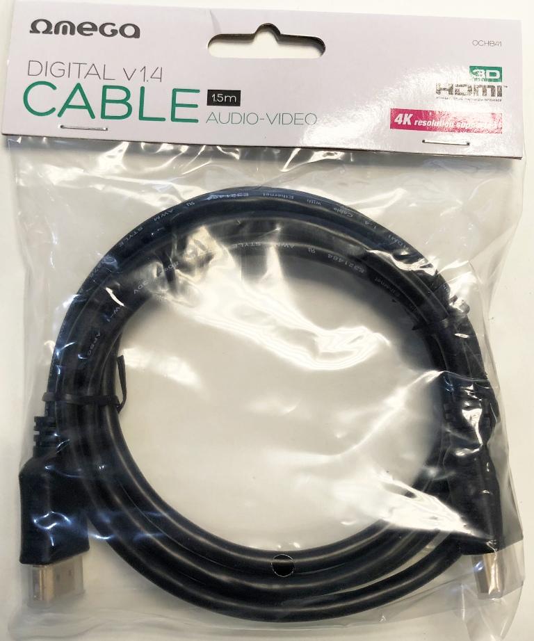 HDMI v1.4 M/M  1.5m (30 Hz/2160p) Omega