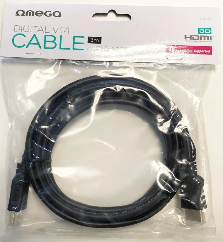HDMI v1.4 M/M  3.0m (30 Hz/2160p) Omega