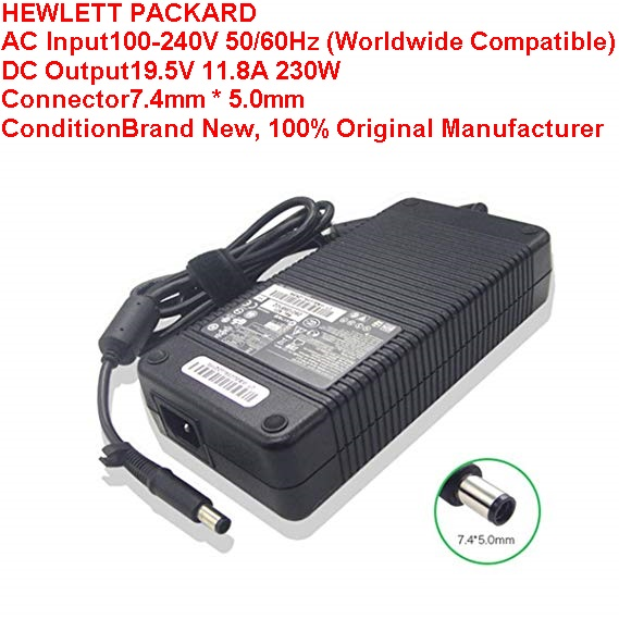 HP HSTNN-LA12 19.5V 11.8A Power AC Adapter