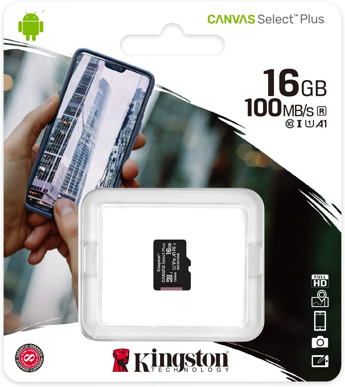 Карта памет  16 GB Kingston Canvas Select Plus.