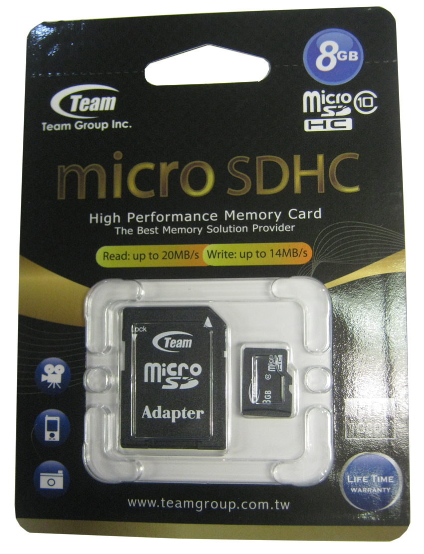 Карта памет   8 GB Team Group SDHC Micro,CL10