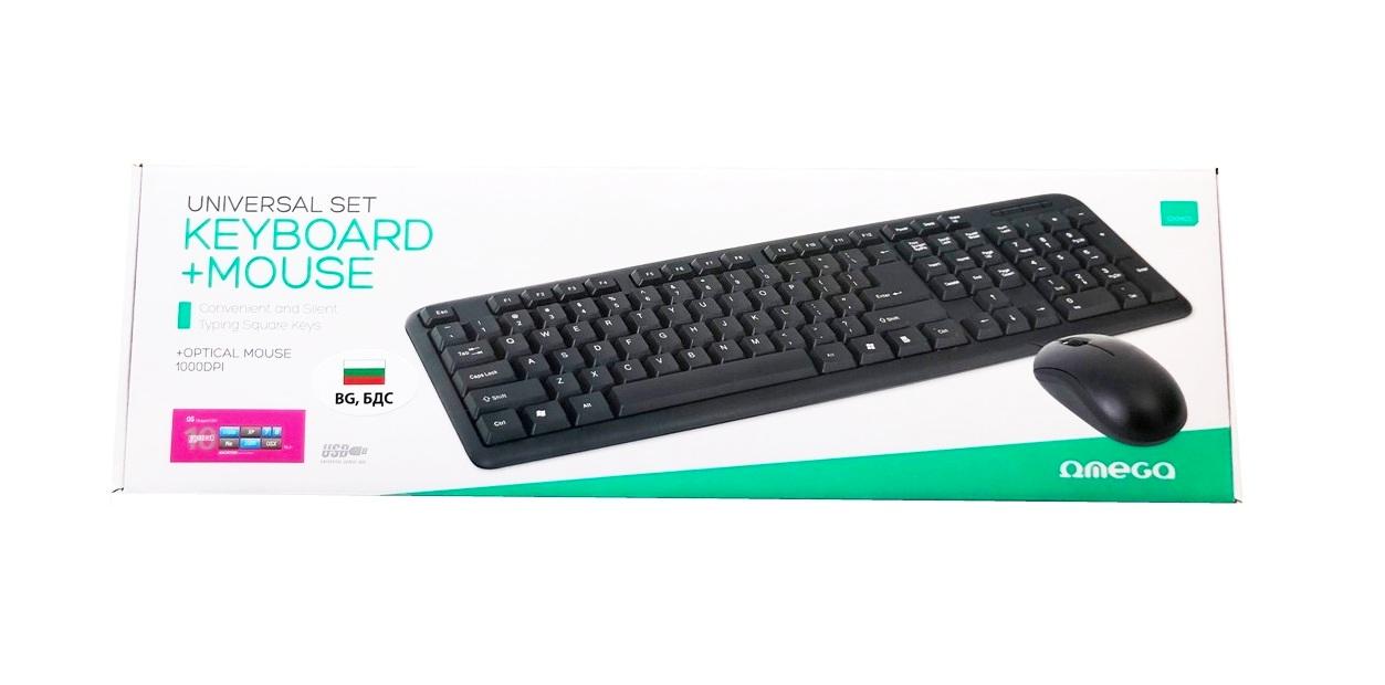 Клавиатура с мишка OMEGA OKM-05,USB,BG