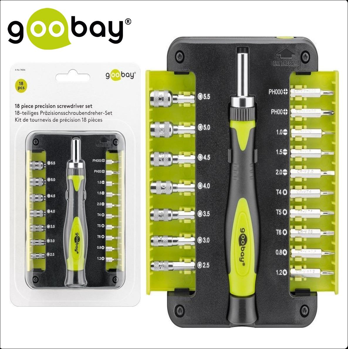 Комплект отвертки с 18 части GOOBAY 74006