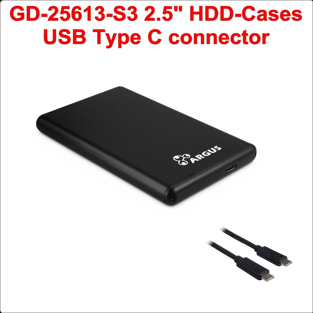 Кутия за диск 2.5``USB Type C (GD-25613-S3)