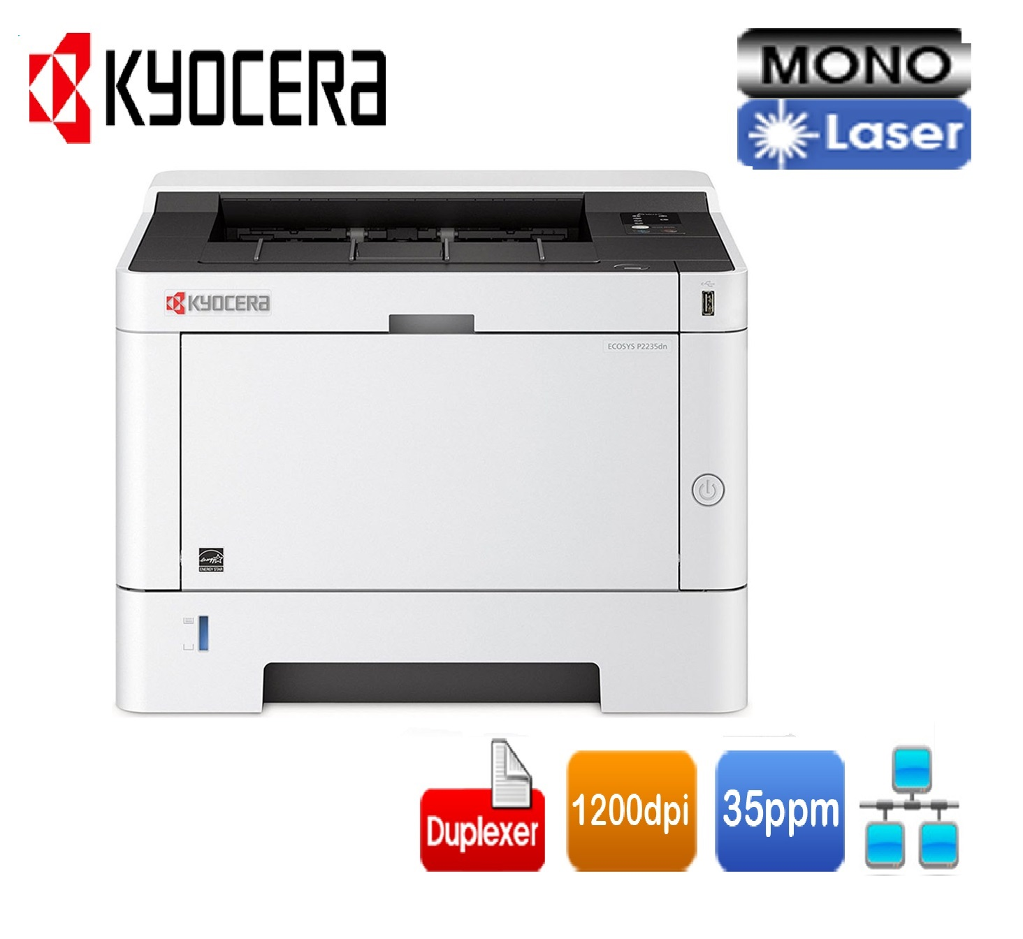 Лазерен принтер Kyocera P2235DN