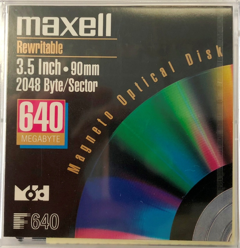 MO Disk Maxel 650MB ML-DM-MO-640