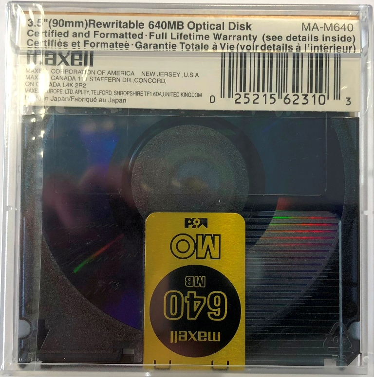 MO Disk Maxel 650MB ML-DM-MO-640
