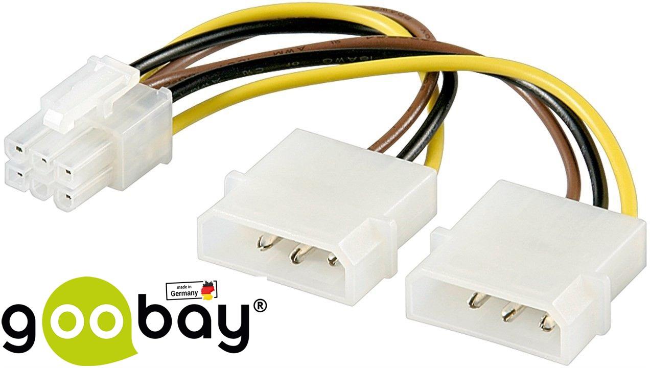 Molex 2x to 6 pin PCIe GOOBAY