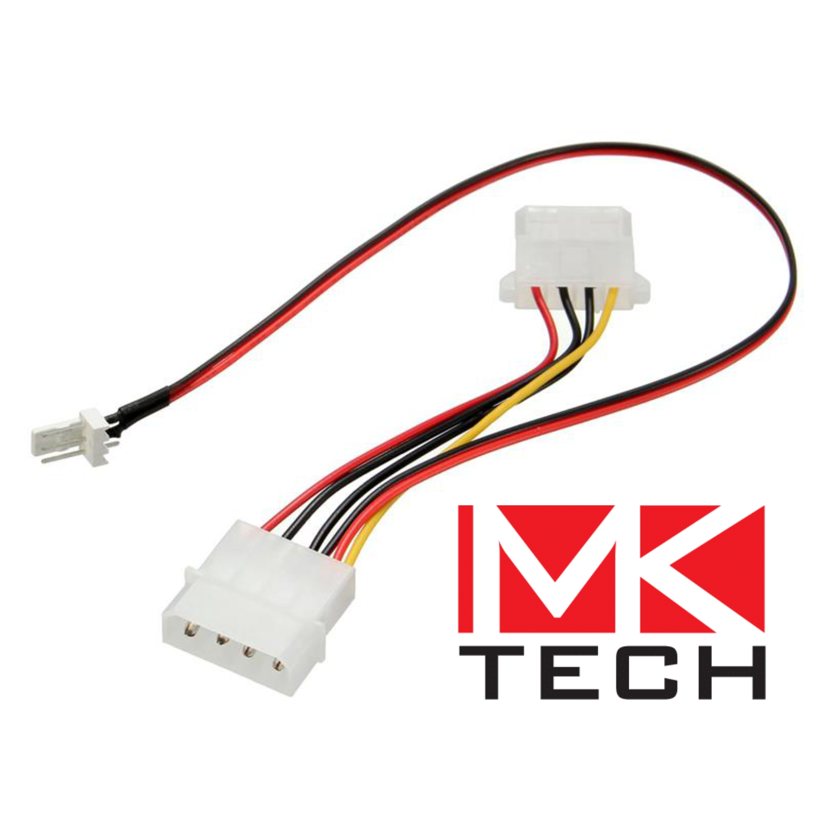 Molex to 3-pin Fan+5.25 molex Power MKTECH