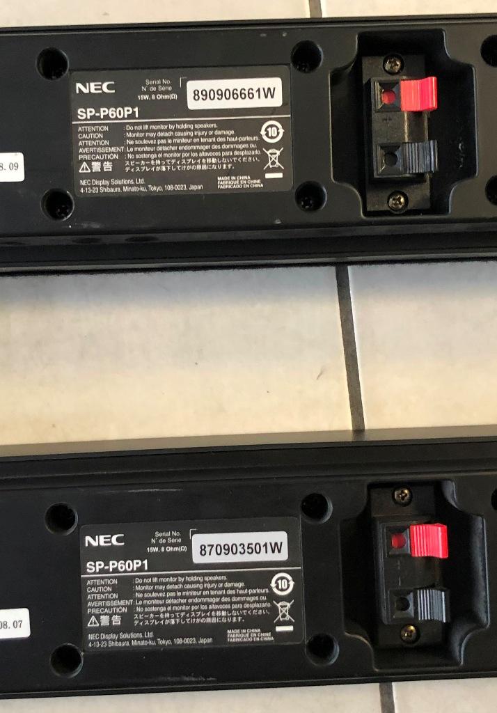 NEC SP-P60P1 - Speaker Kit