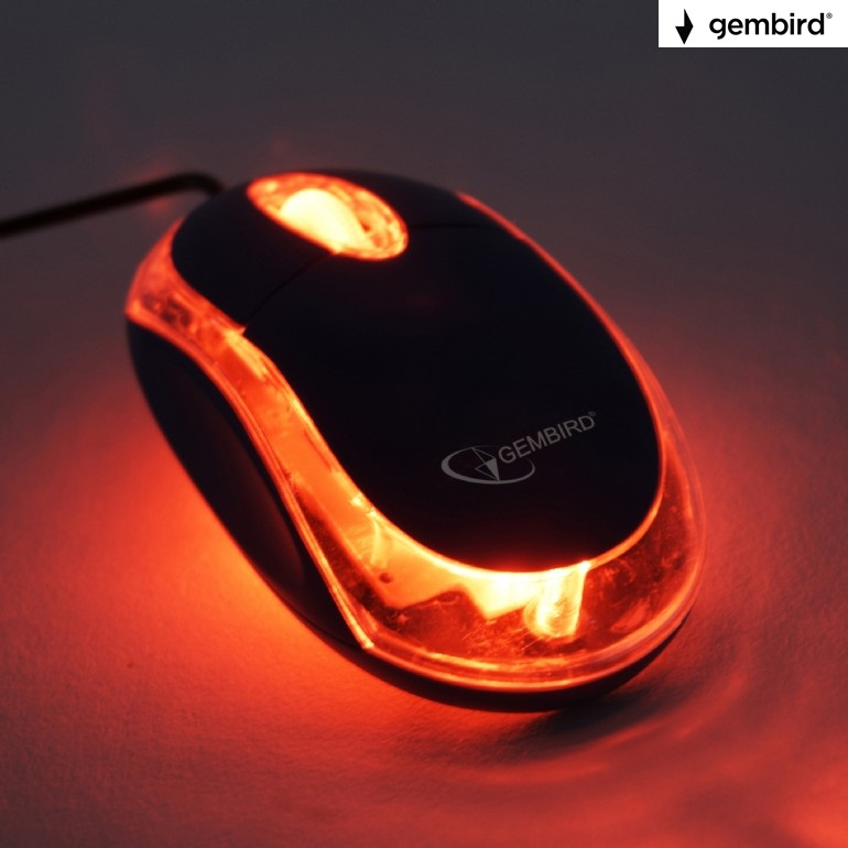 Оптична мишка Gembird MUS-U-01-BKT,USB