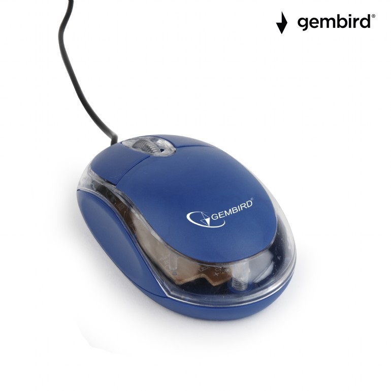 Оптична мишка Gembird MUS-U-01-BT,USB синя