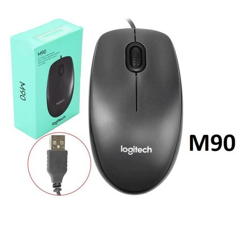 Оптична мишка Logitech M90,USB,черна
