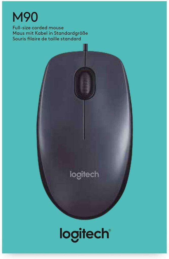 Оптична мишка Logitech M90, USB, Черна