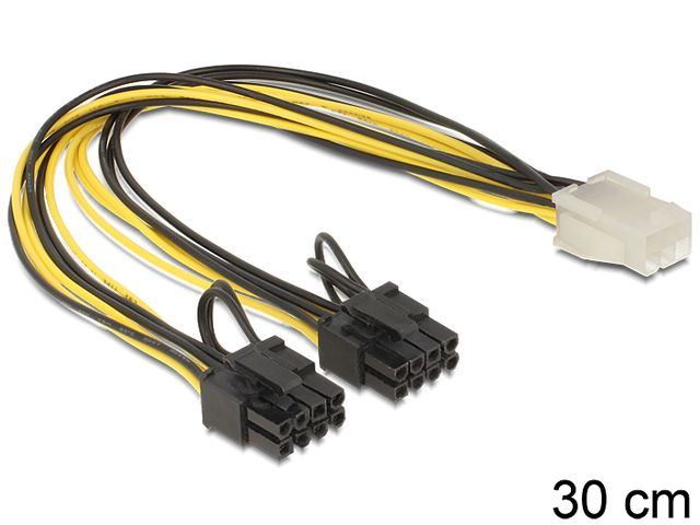 PCI-E 6-pin to 2x8-pin  Delock