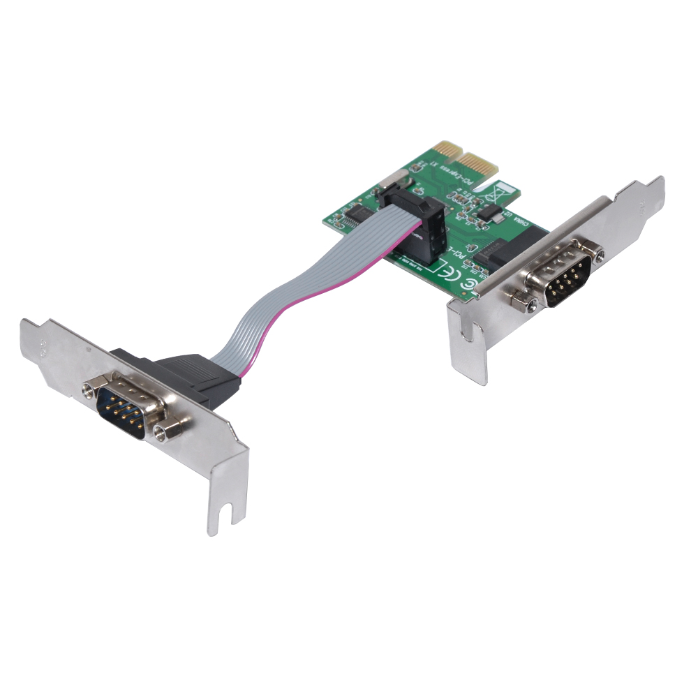 PCI-E to Serial 2 ports Low Profile MKTECH