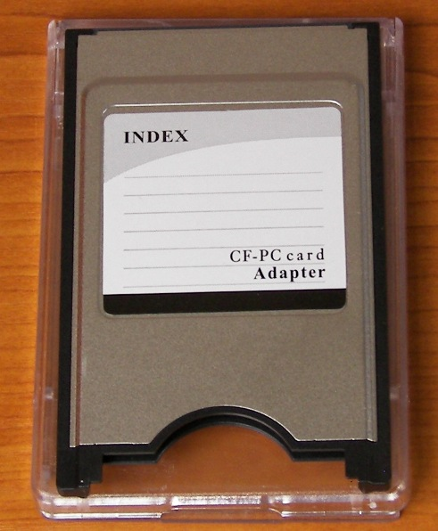 PCMCIA to Compact Flash CF Card Adaptor