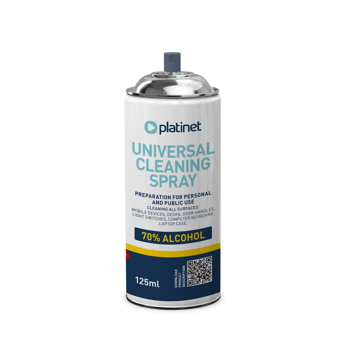 Platinet CLEANING 70% SURFACE SPRAY 125ML