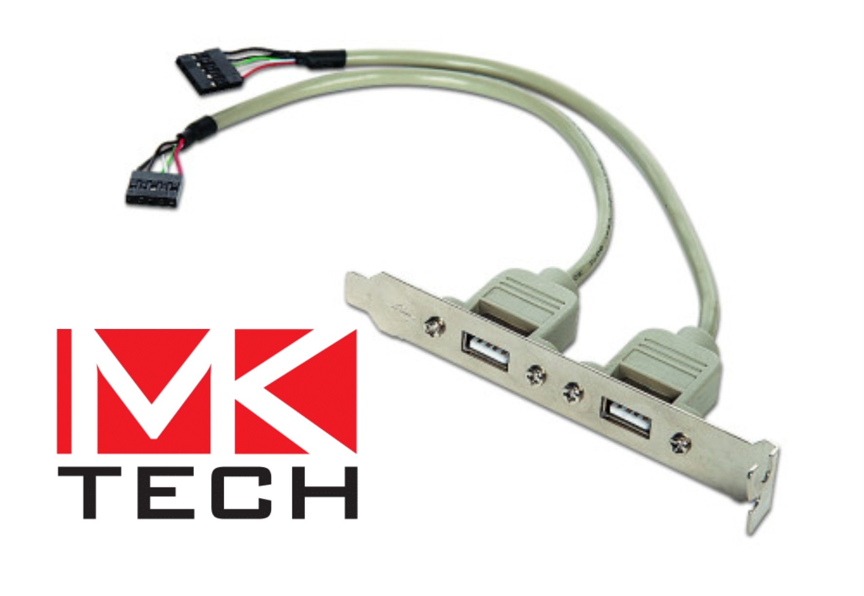 Преходник 10pin към 2 x USB бракет MKTECH