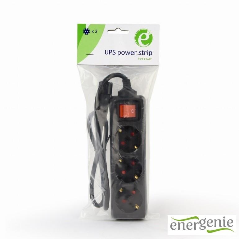 Разклонител за UPS,3 Schuko,0.6 m Energenie