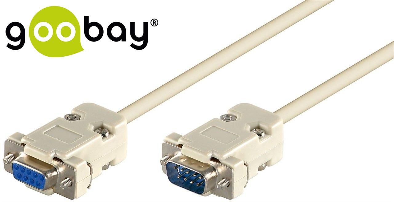 RS-232 M 9-pin to RS-232 F 9-pin 1:1 2.0m GOOBAY