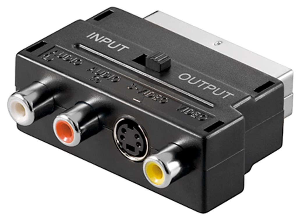 Scart/M(21-pin) to 3x RCA/F+SVideo/IN/OUT GOOBAY
