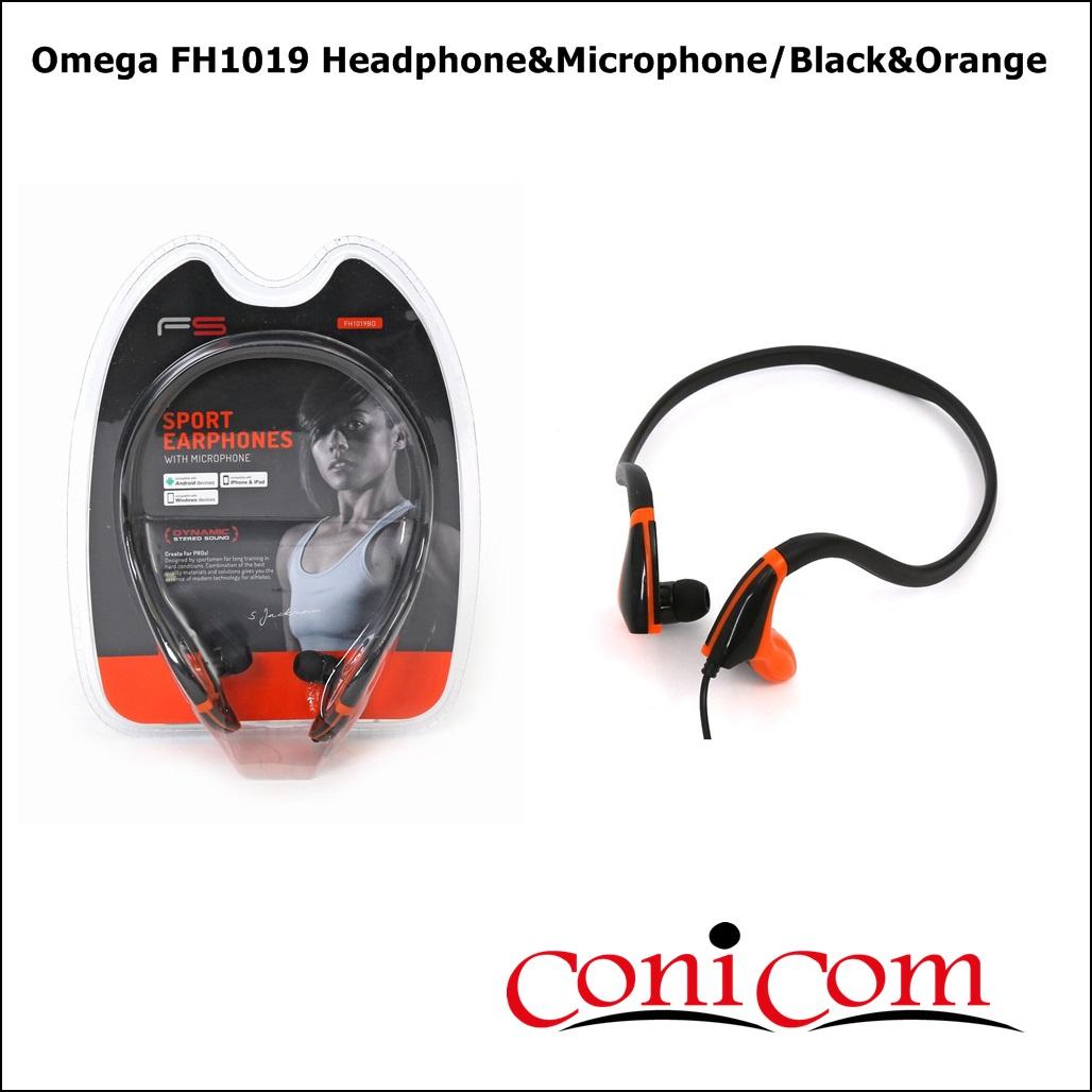 Слушалки с микрофон Omega FH1019, Черно/Оранжево